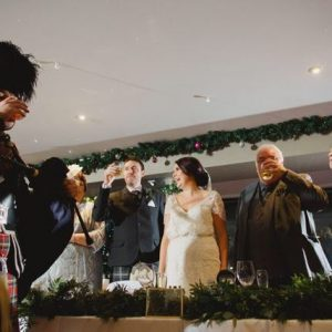 Wedding Pipers Toast