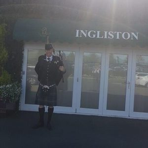 Craig Hamilton Lanark Wedding Piper